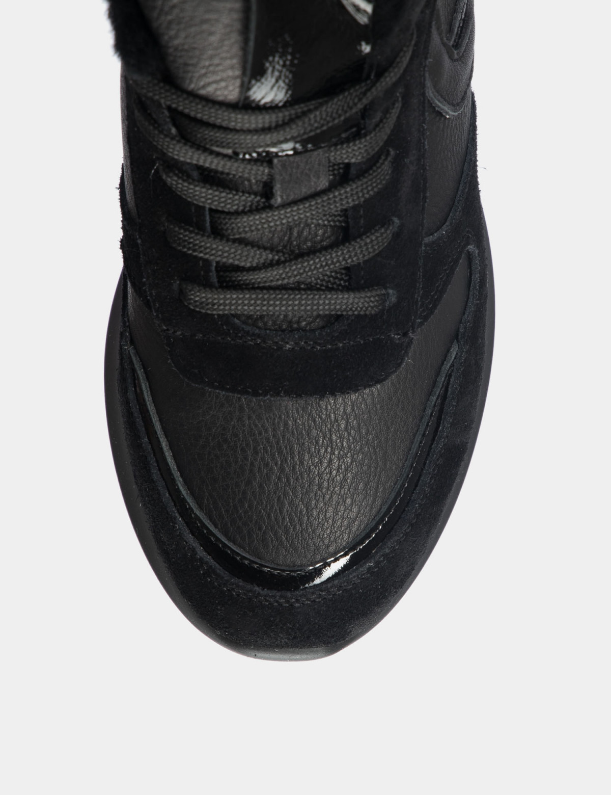 Кросівки чорні. Натуральна шкіра/замша. Вовна3