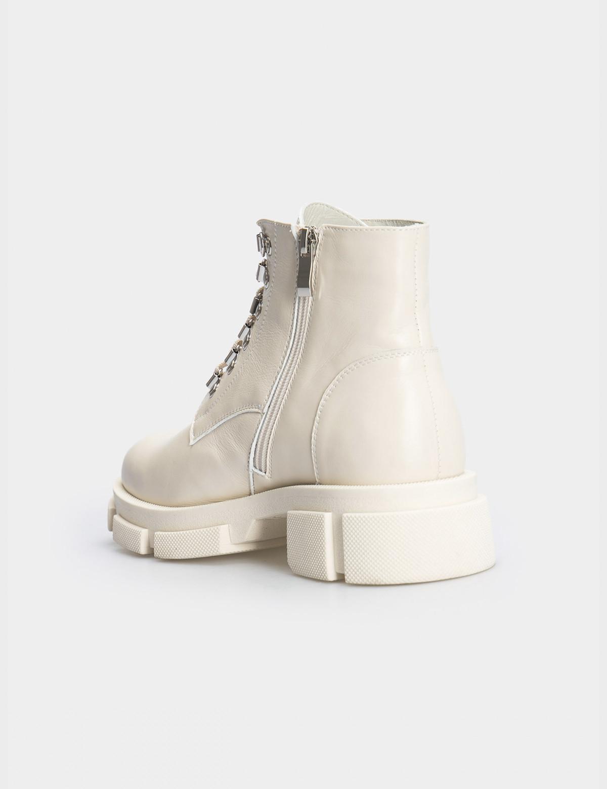 Ботинки бежевые. Натуральная кожа. Байка2