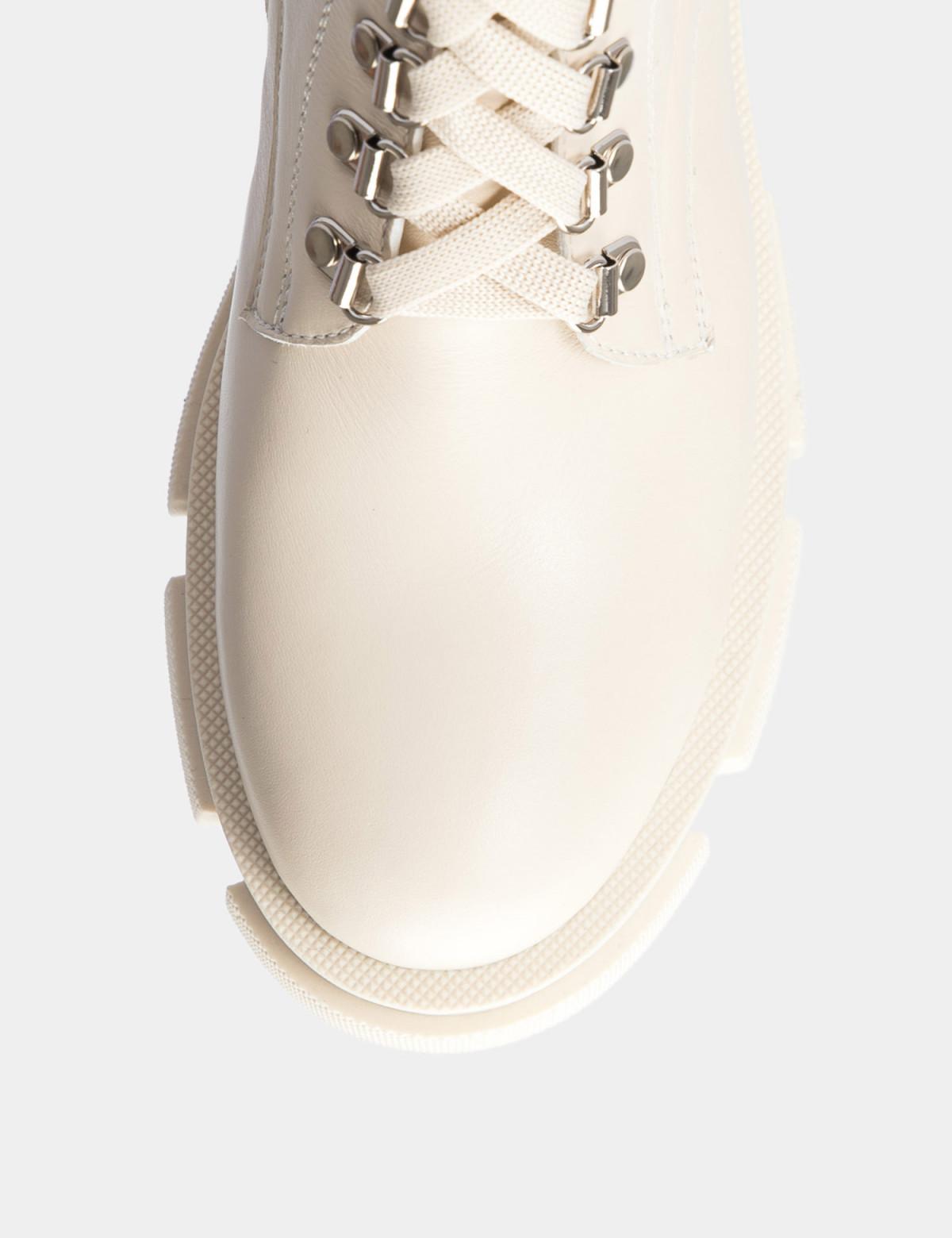 Ботинки бежевые. Натуральная кожа. Байка3