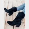 Ботинки черные натуральный нубук. Байка6