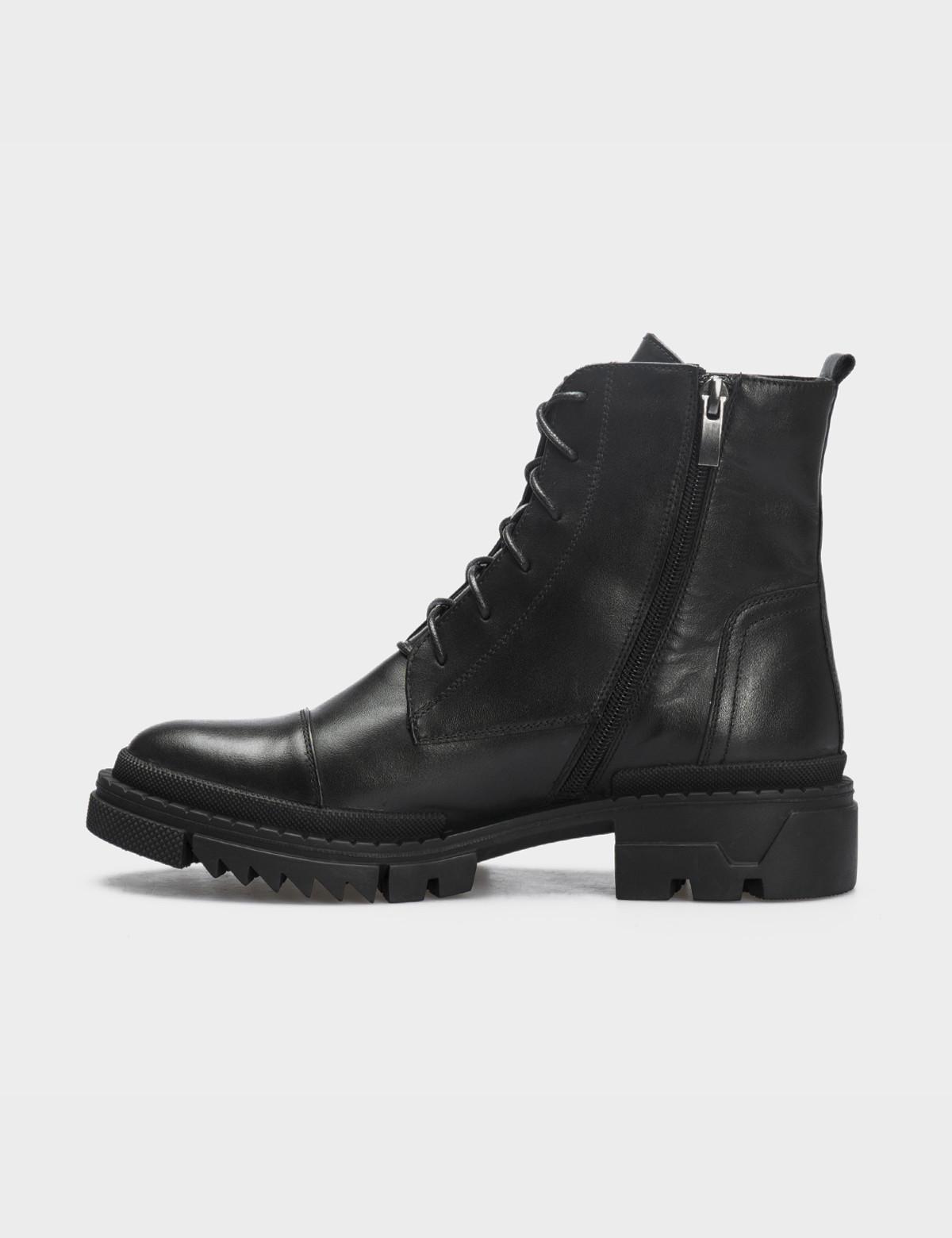 Ботинки черные натуральная кожа. Шерсть3