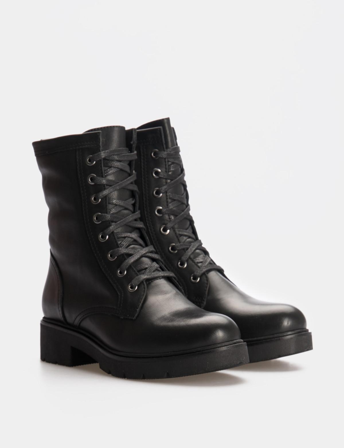 Ботинки черные. Натуральная кожа. Искуственный мех1