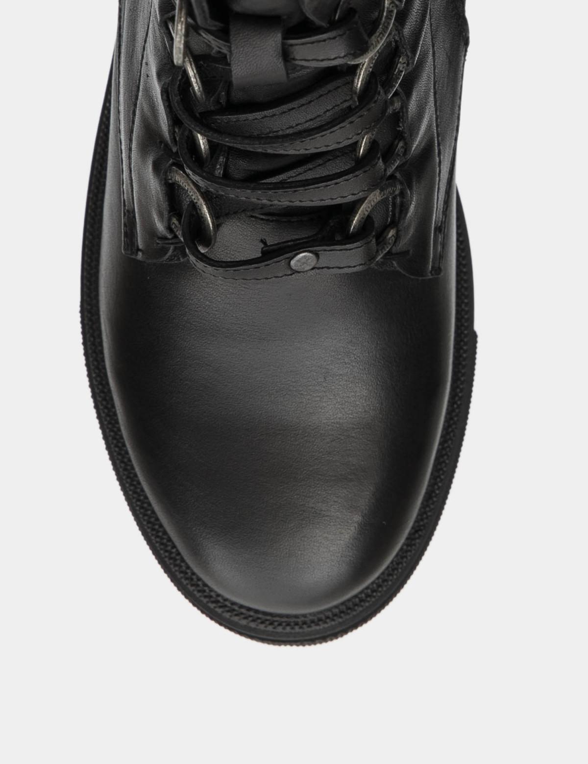 Черевики чорні. натуральна шкіра. Вовна3