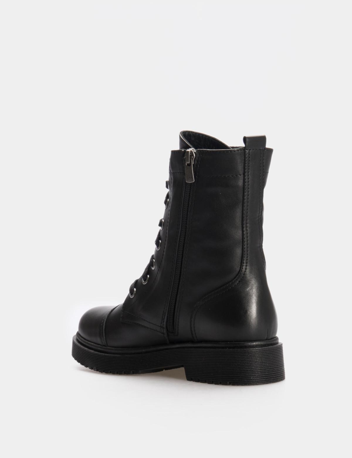 Ботинки черные. Натуральная кожа. Искуственный мех2