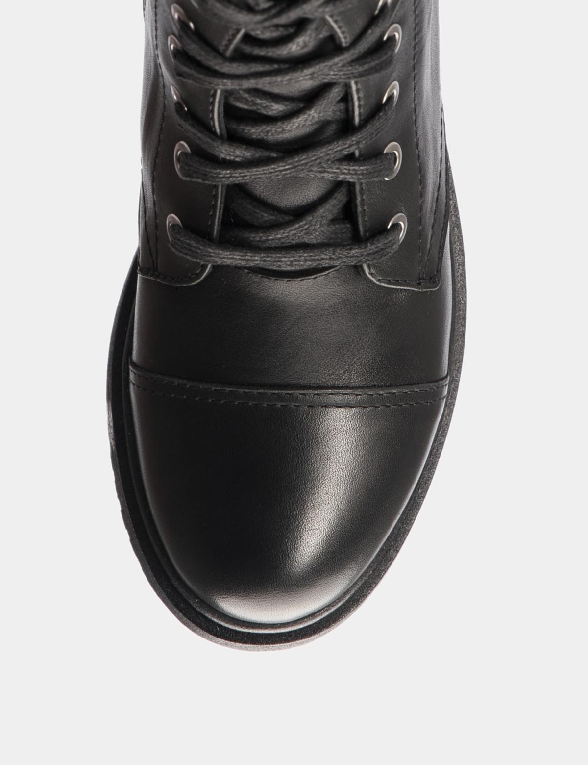 Ботинки черные. Натуральная кожа. Искуственный мех3