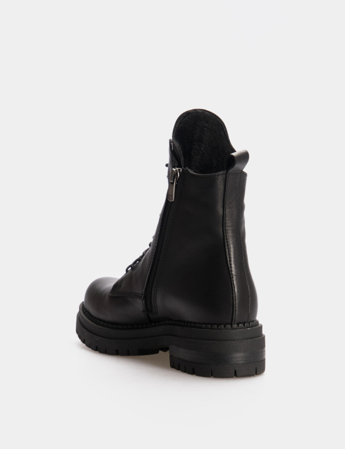 Ботинки черные. Натуральная кожа. Шерсть2
