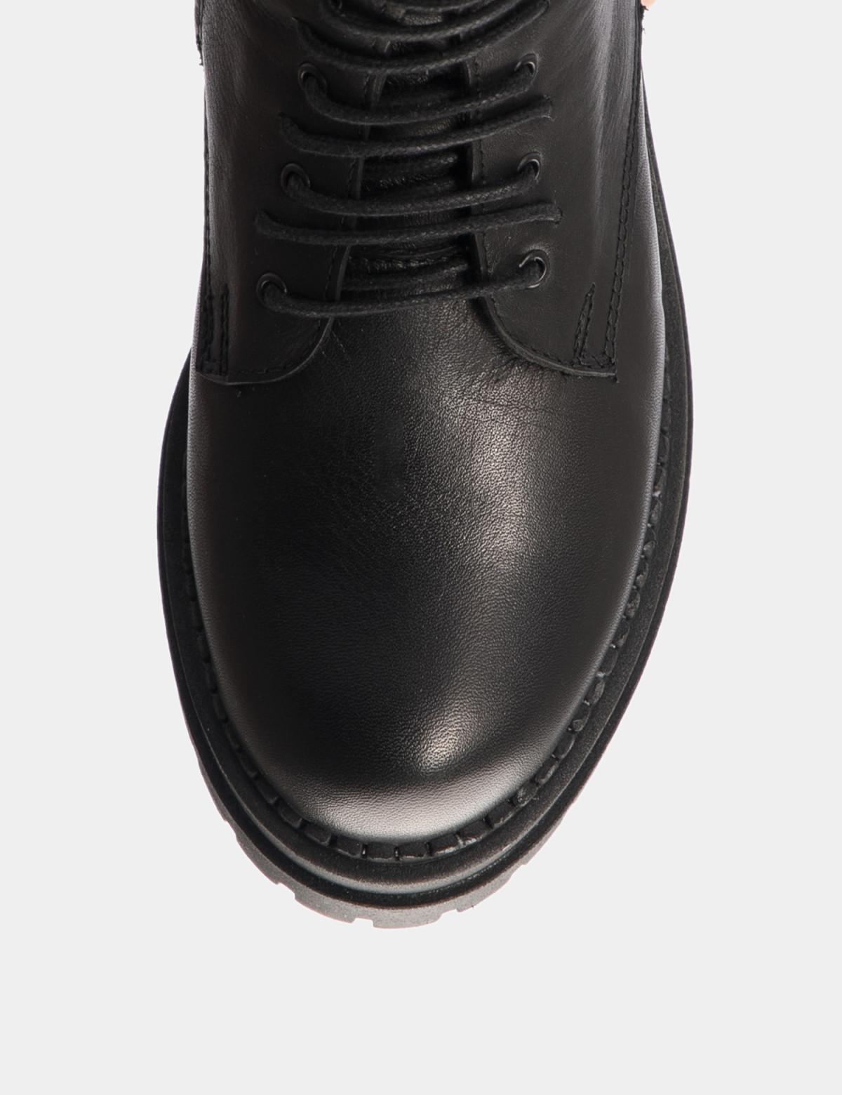 Ботинки черные. Натуральная кожа. Шерсть3
