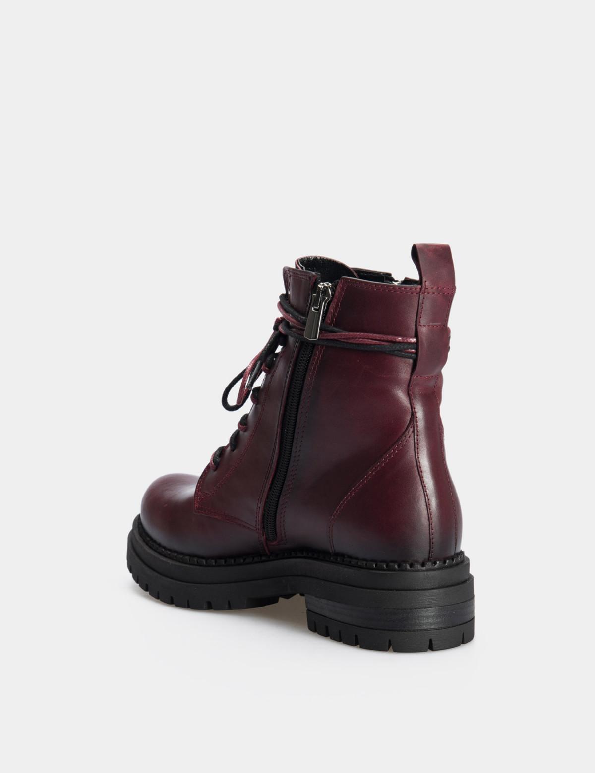 Ботинки бордовые. натуральная кожа. 2