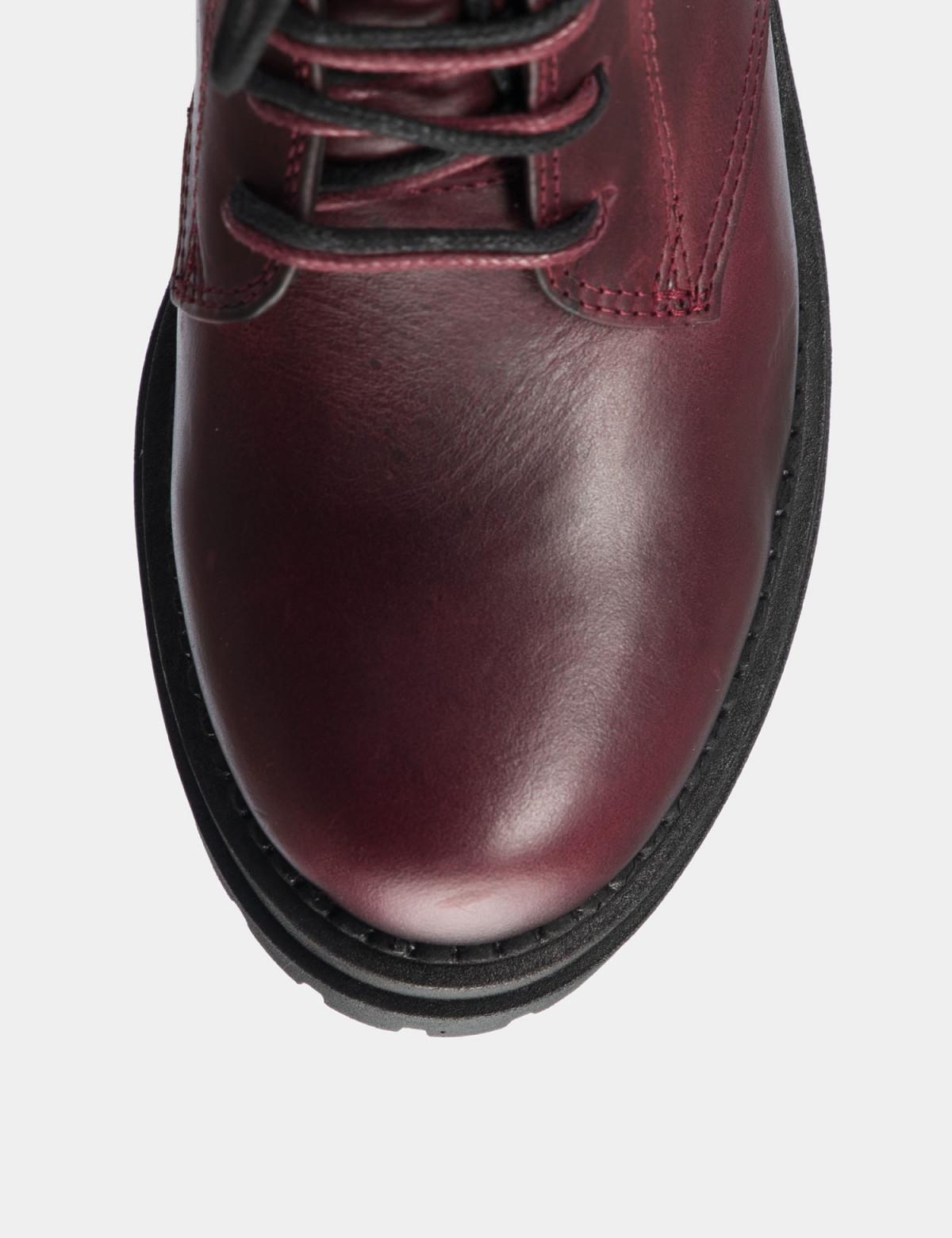 Ботинки бордовые. натуральная кожа. 3