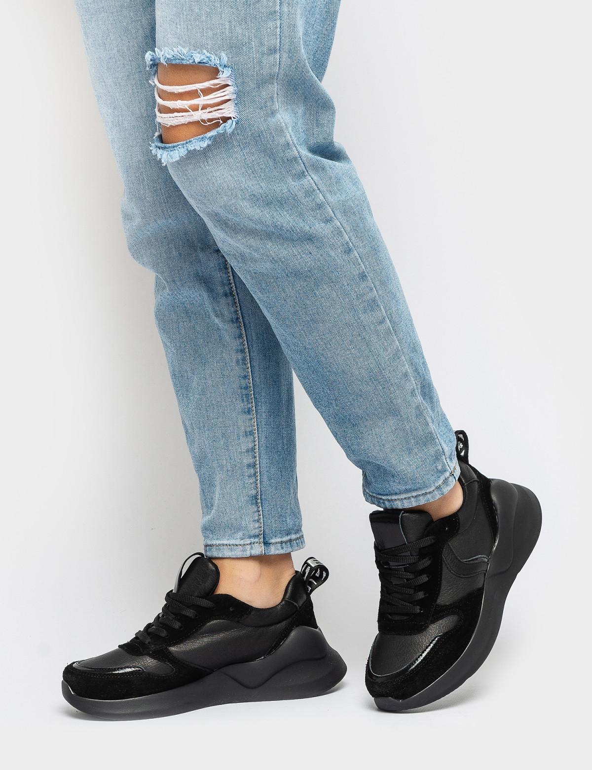 Кроссовки черные. Натуральная кожа/замша. 4