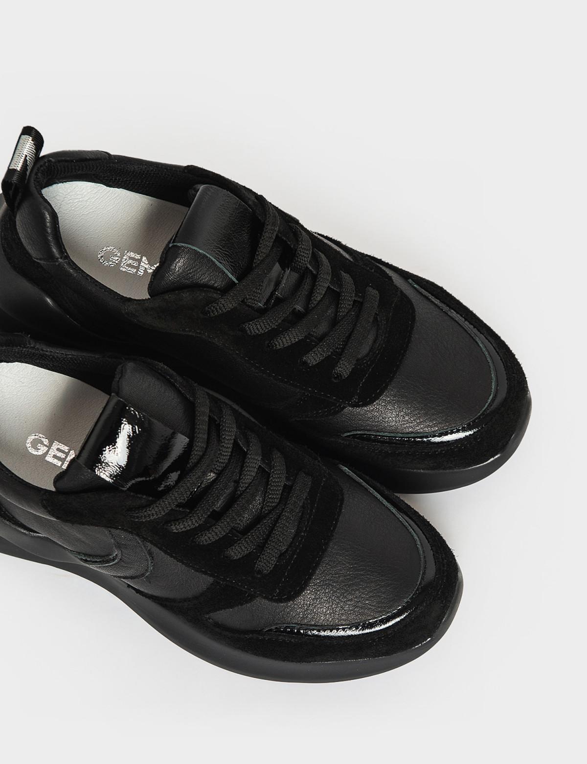 Кроссовки черные. Натуральная кожа/замша. 3