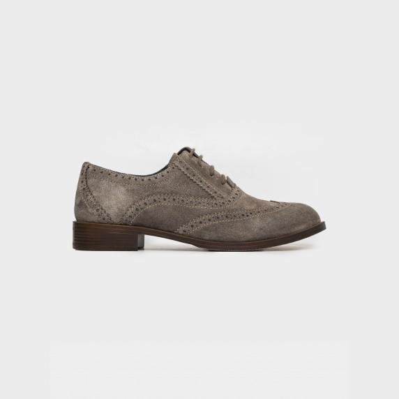 Бежеві туфлі. Натуральна замша