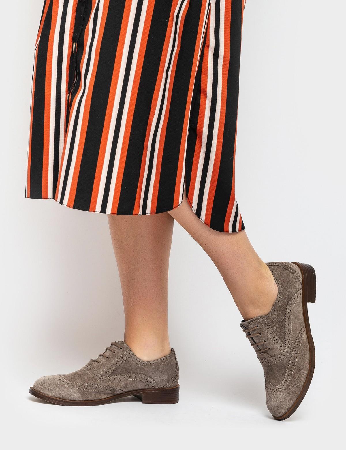 Туфли бежевые. Натуральная замша6