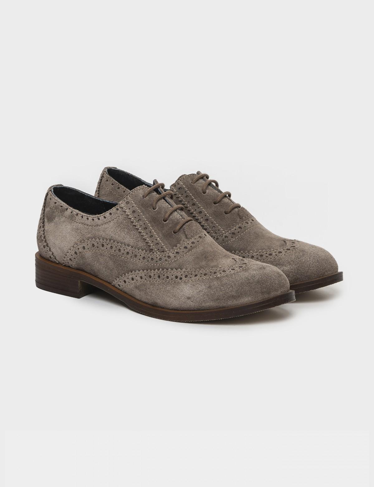Туфли бежевые. Натуральная замша1
