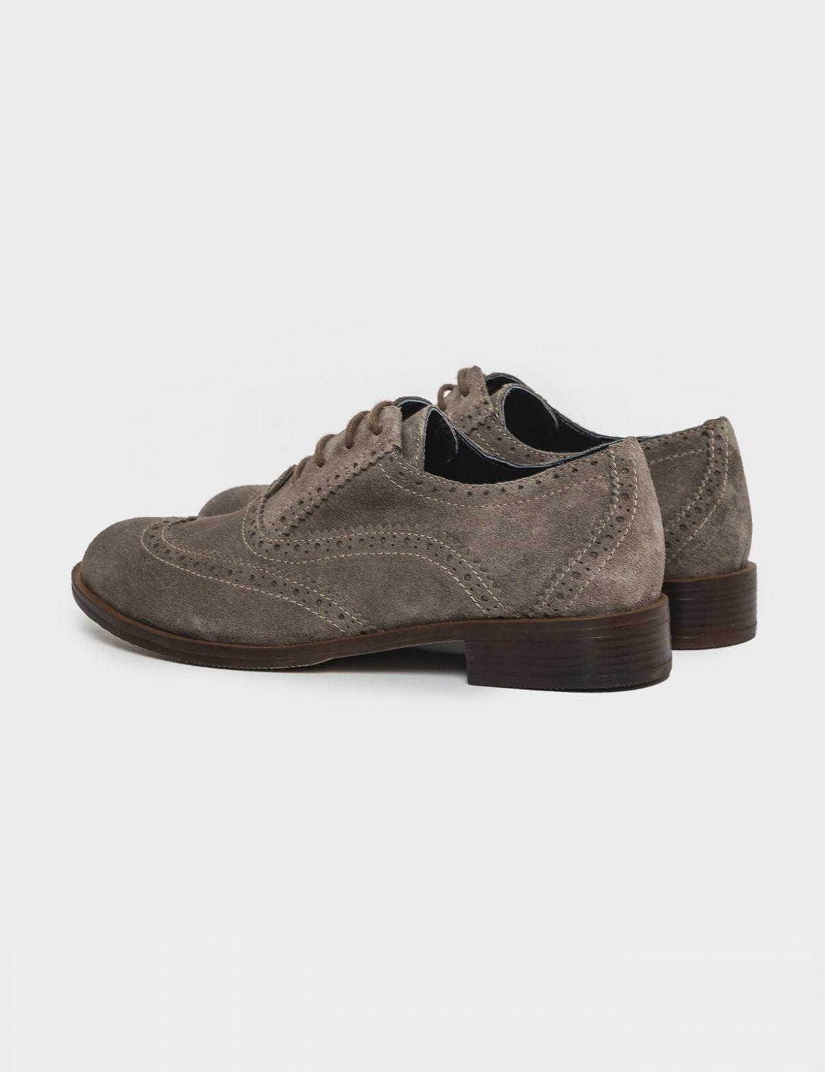 Бежеві туфлі. Натуральна замша2