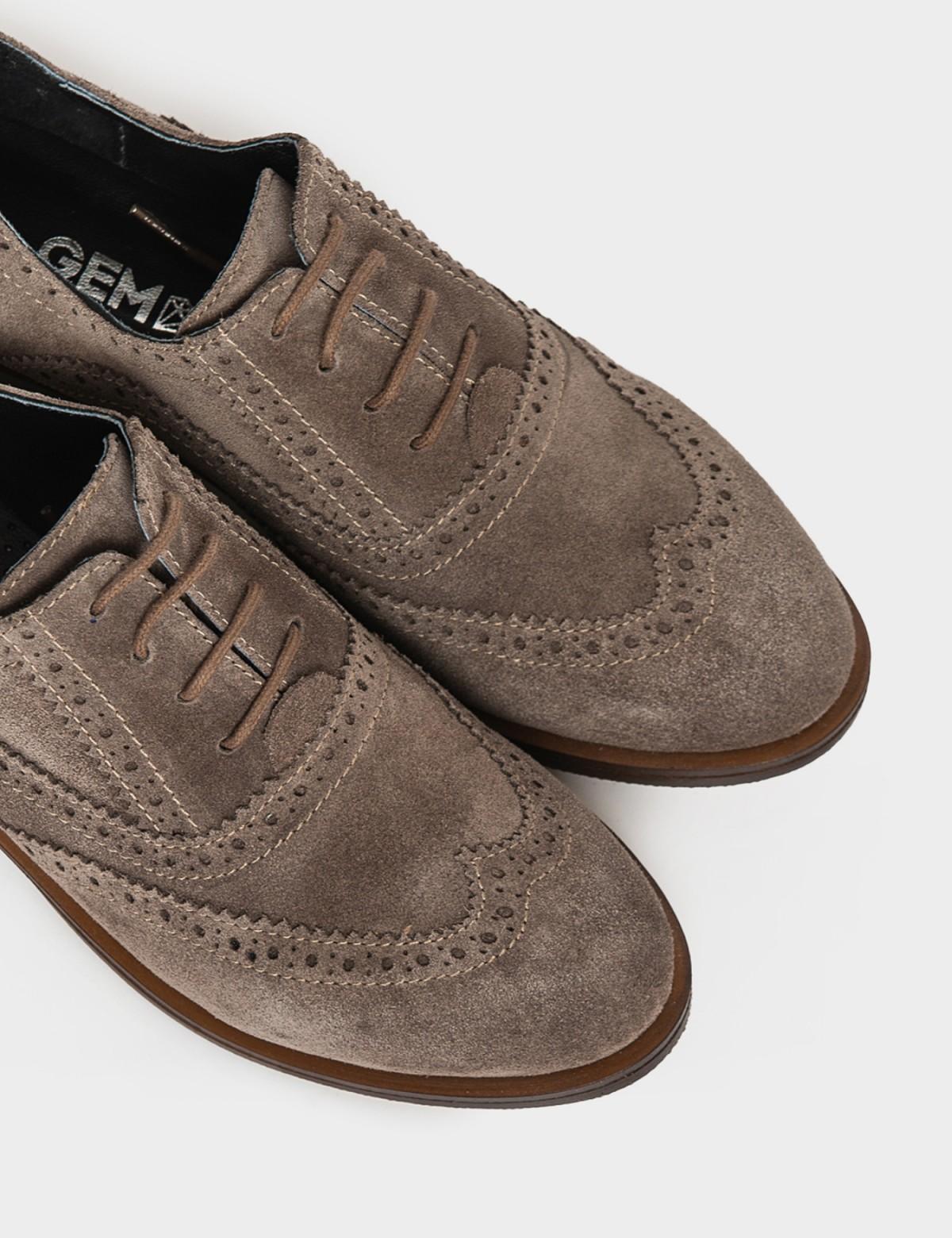 Туфли бежевые. Натуральная замша3