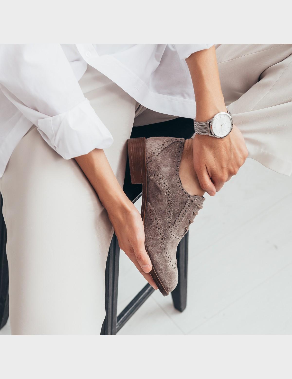 Туфли бежевые. Натуральная замша4