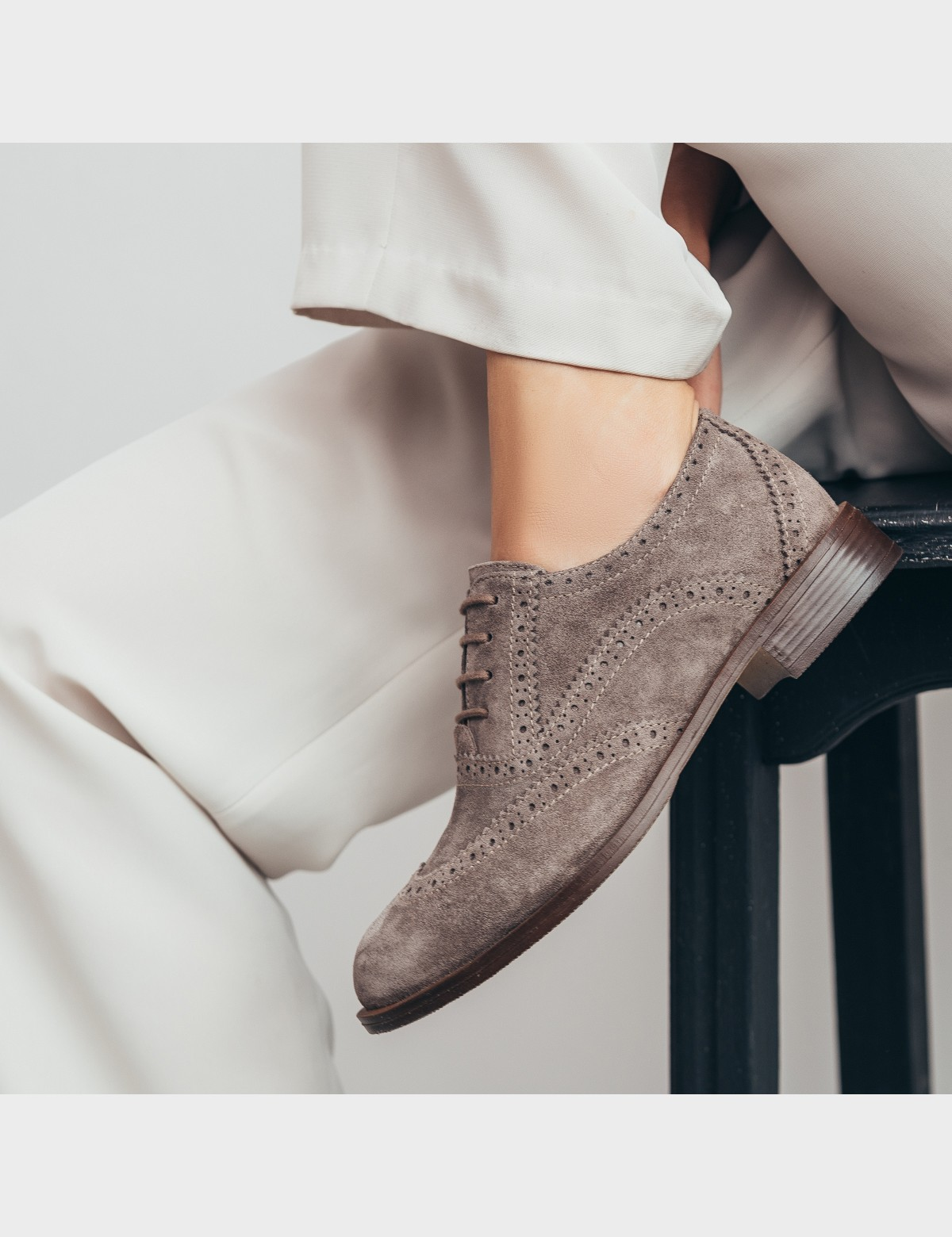Туфли бежевые. Натуральная замша5