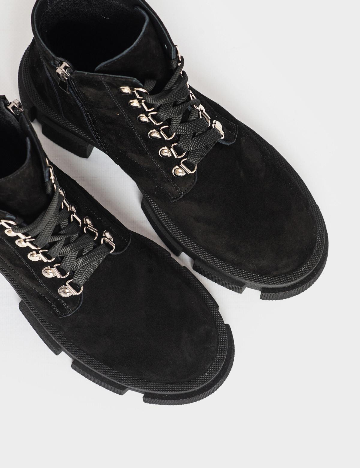Ботинки черные. Натуральная замша. Байка3