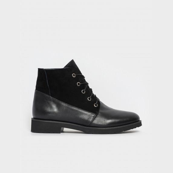 Ботинки черные. Натуральная кожа/замша. Байка