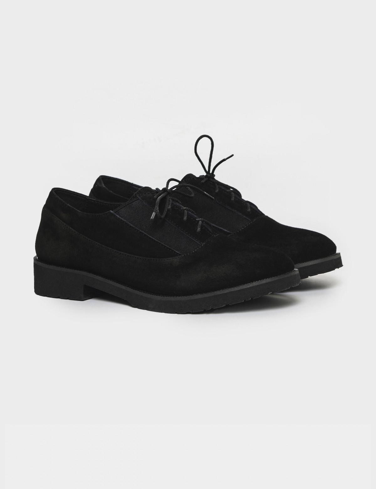 Туфли черные. Натуральная замша1