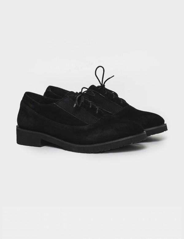 Туфлі чорні. Натуральна замша
