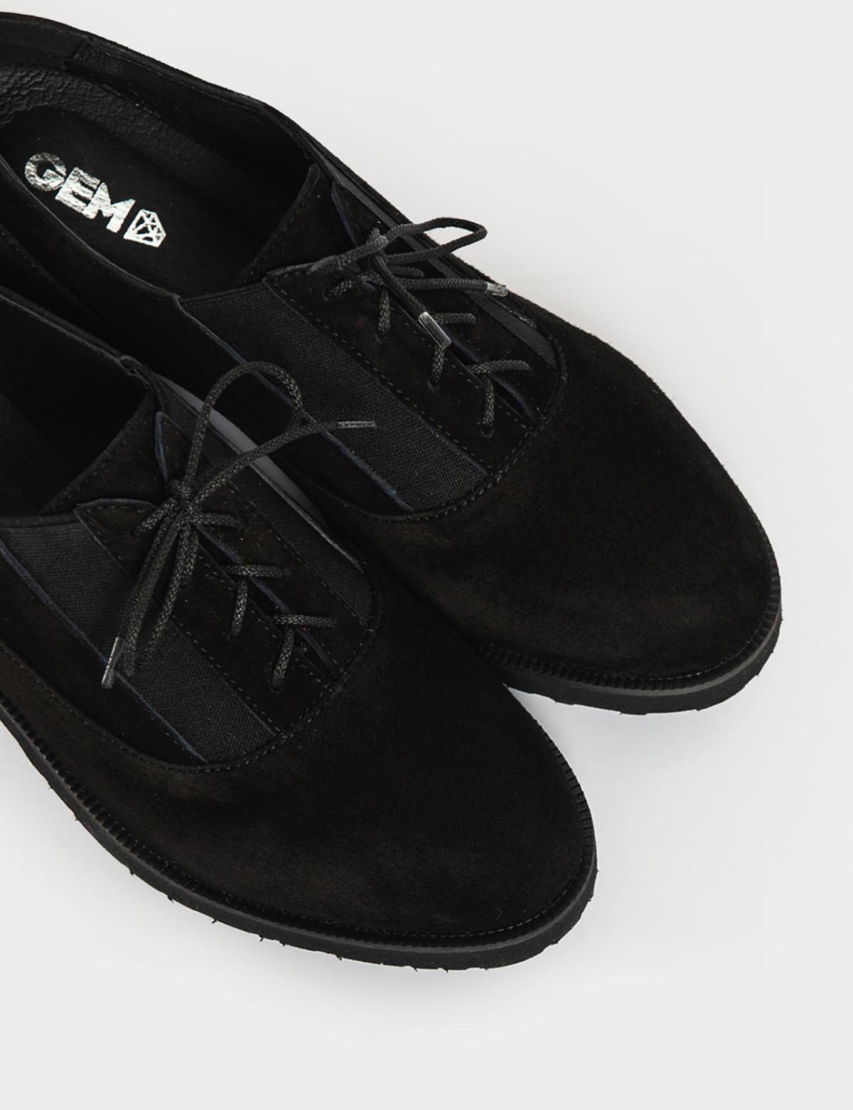 Туфли черные. Натуральная замша3