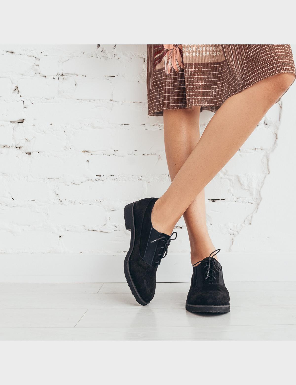 Туфли черные. Натуральная замша4