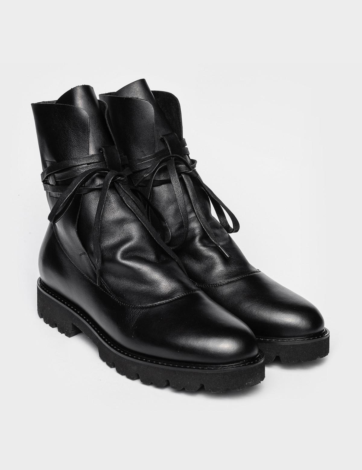 Ботинки черные. Натуральная кожа. 1