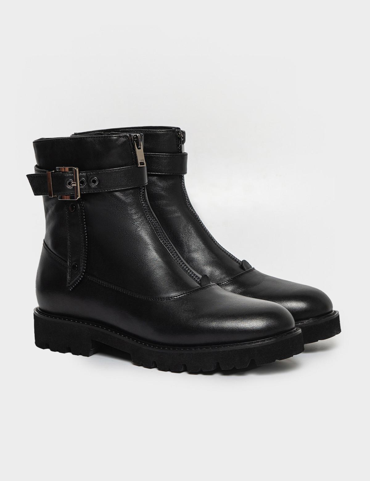 Ботинки черные. Натуральная кожа. Байка1