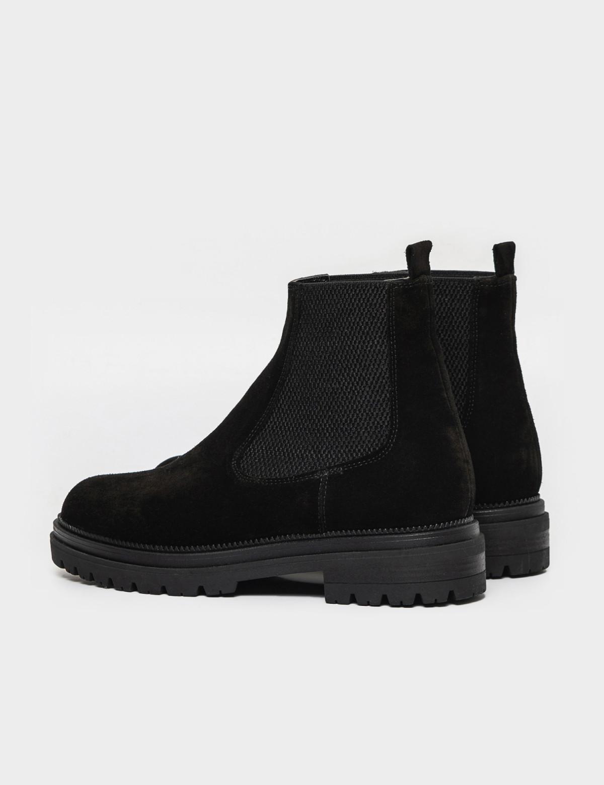 Ботинки черные. Натуральная замша. Байка1