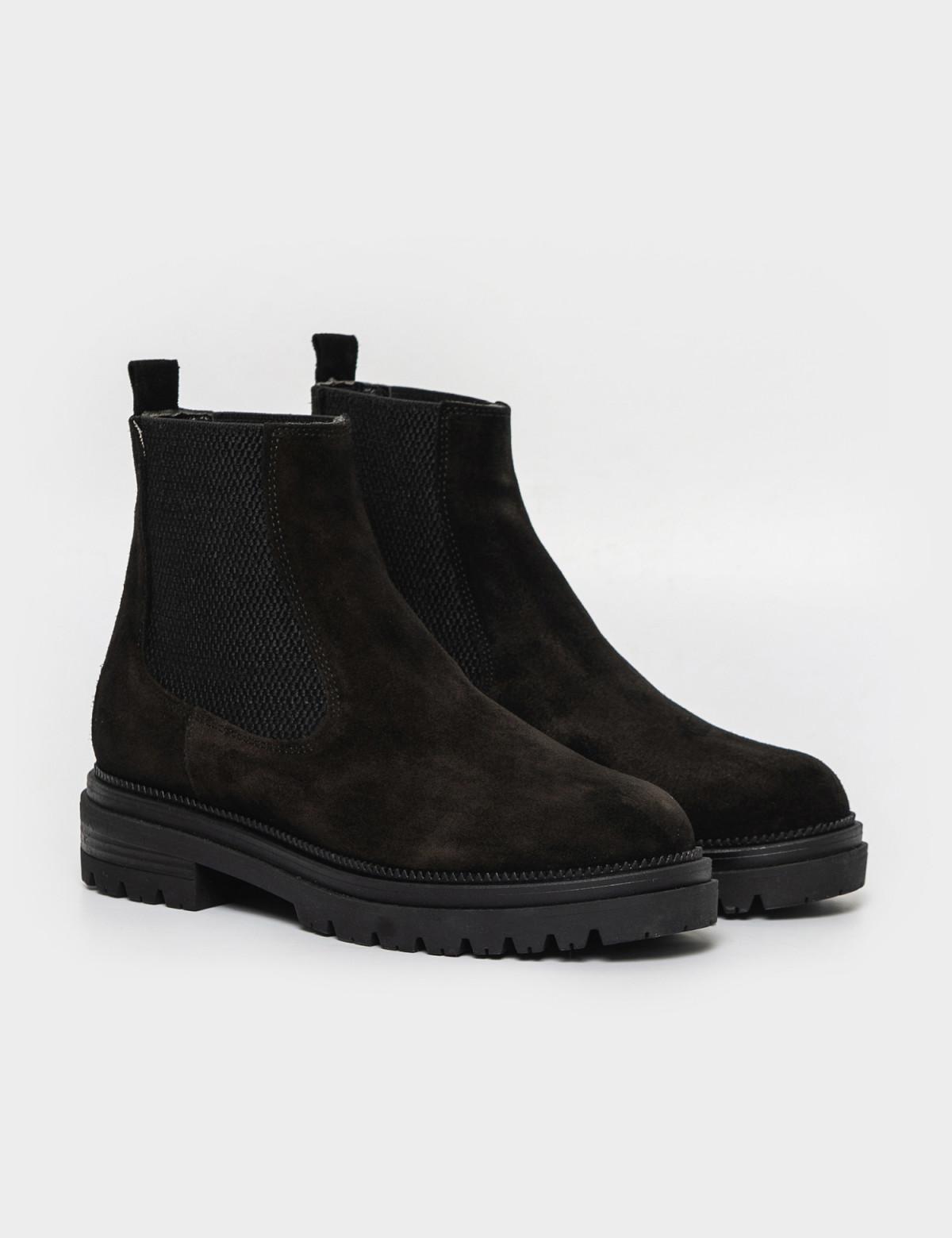 Ботинки черные. Натуральная замша. Байка2