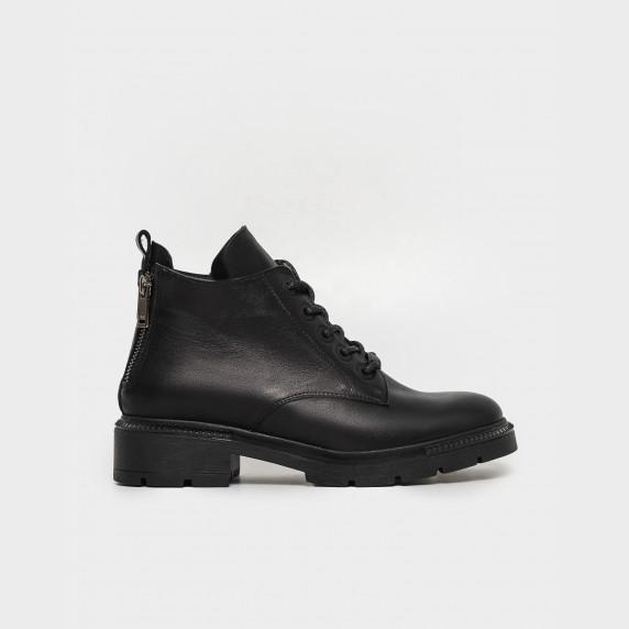 Ботинки чорные. Натуральная кожа. Байка