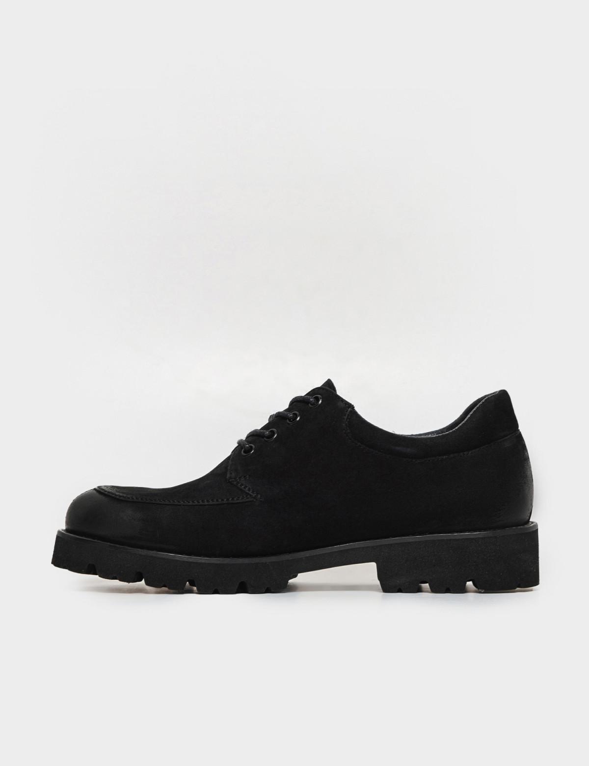 Туфли черные. Натуральный нубук1