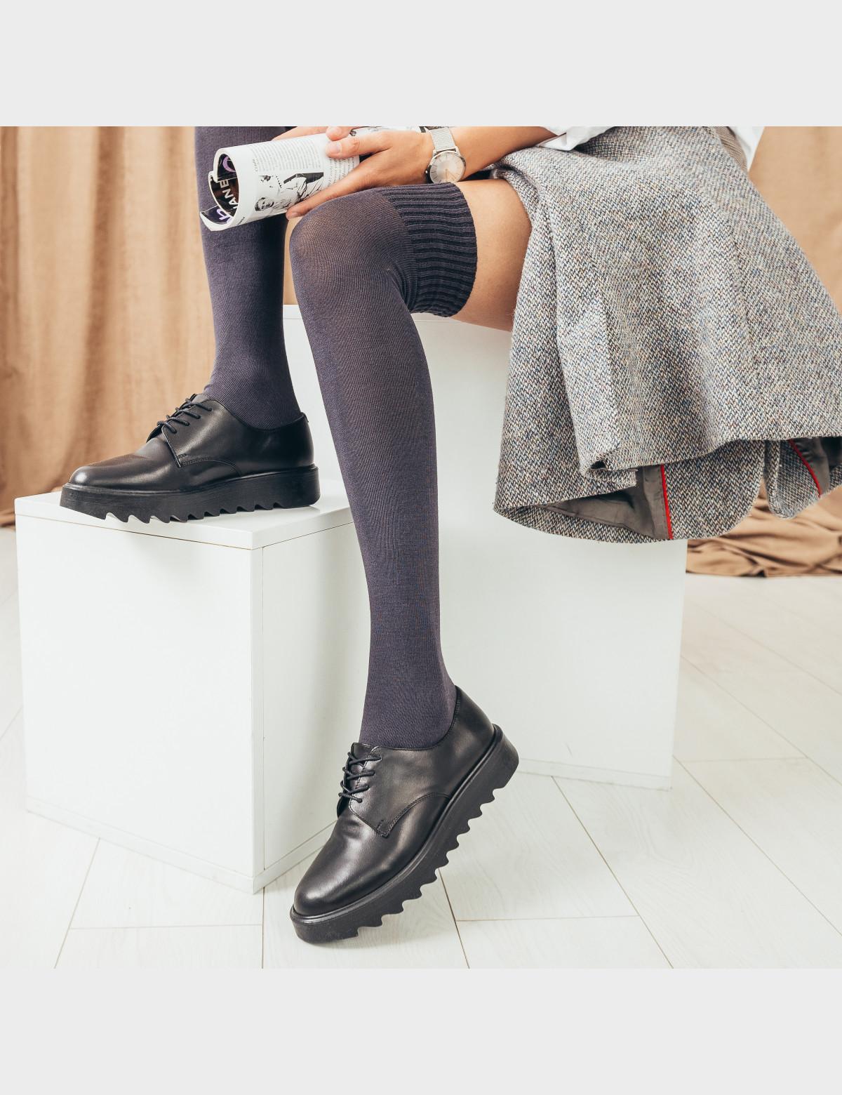 Туфли черные, натуральная кожа7