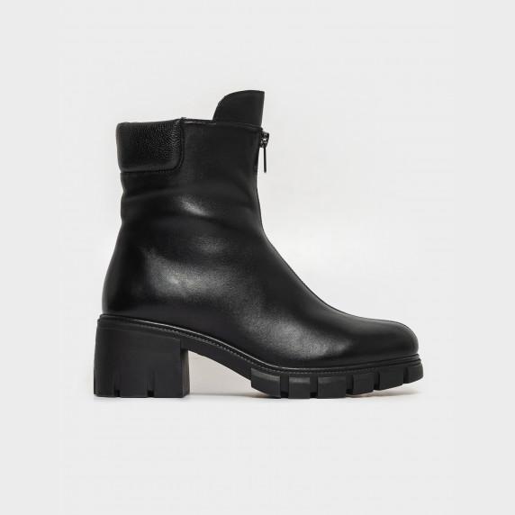 Ботинки черные. Натуральная кожа. Шерсть