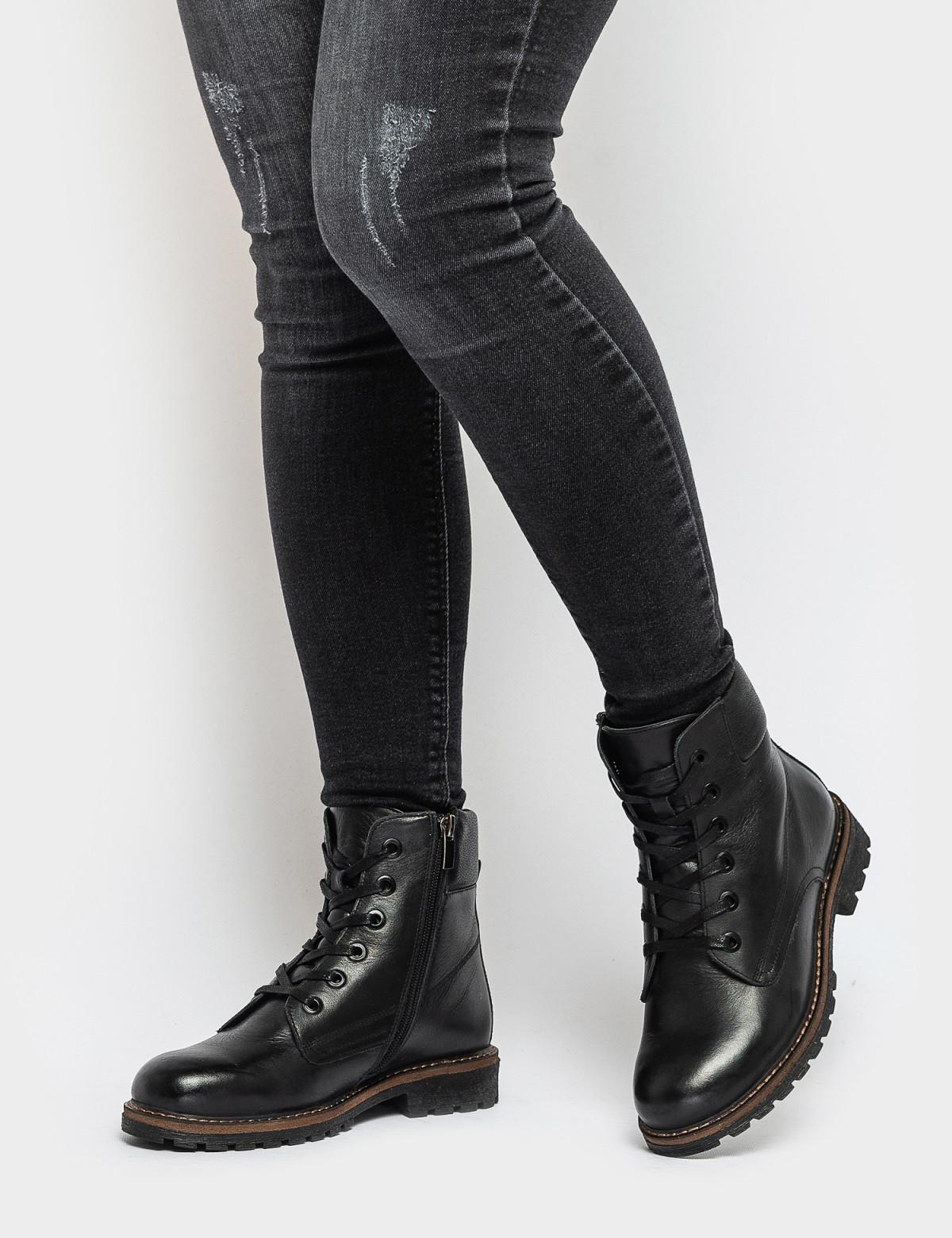 Ботинки черные натуральная кожа. Шерсть6
