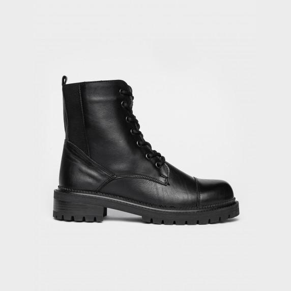 Ботинки 9024 черная кожа. Байка