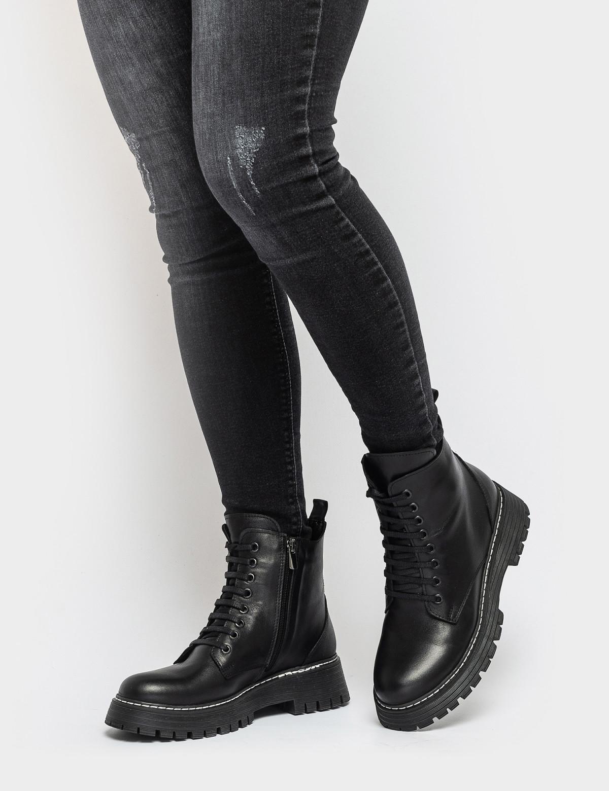 Ботинки черные. Натуральная кожа. Мех4