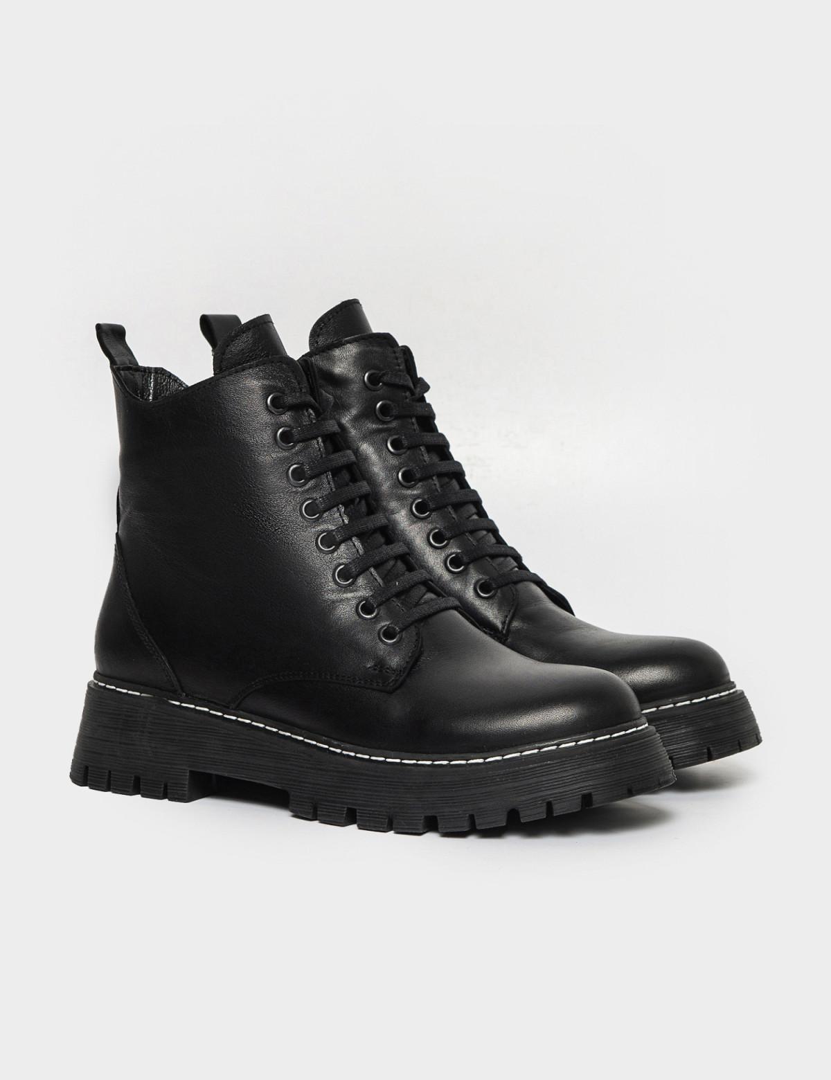 Ботинки черные. Натуральная кожа. Мех1