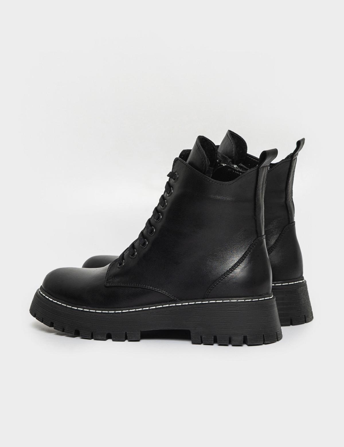 Ботинки черные. Натуральная кожа. Мех2