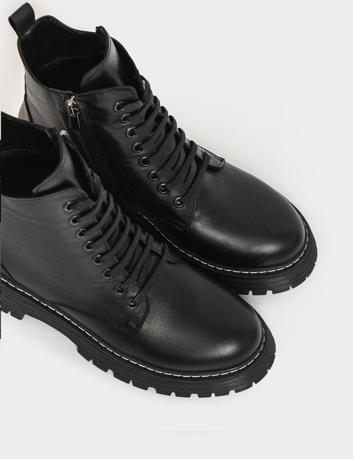 Ботинки черные. Натуральная кожа. Мех3