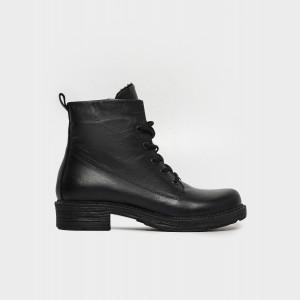 Ботинки черные. Натуральная кожа. Байка