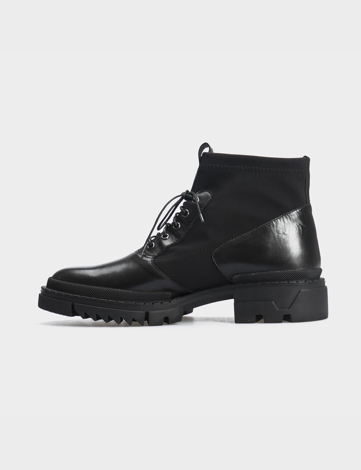 Ботинки черные, натуральная кожа/стрейч. Байка3