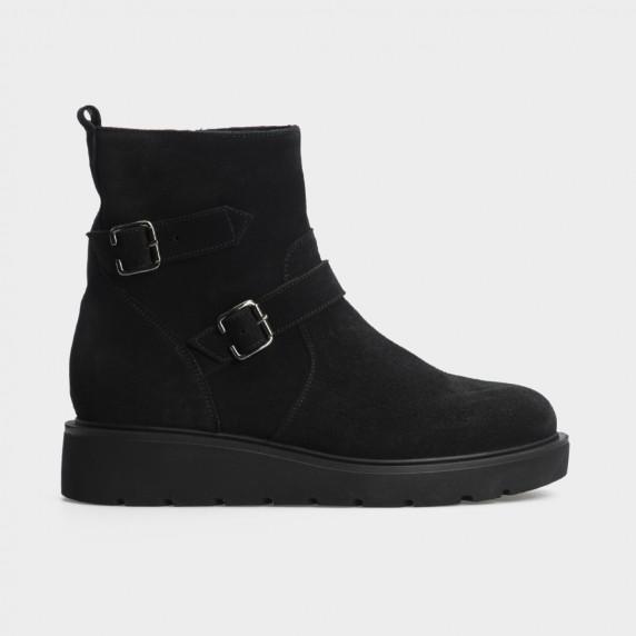 Ботинки черные натуральная замша. Шерсть
