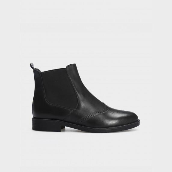 Ботинки черные, натуральная кожа. Байка