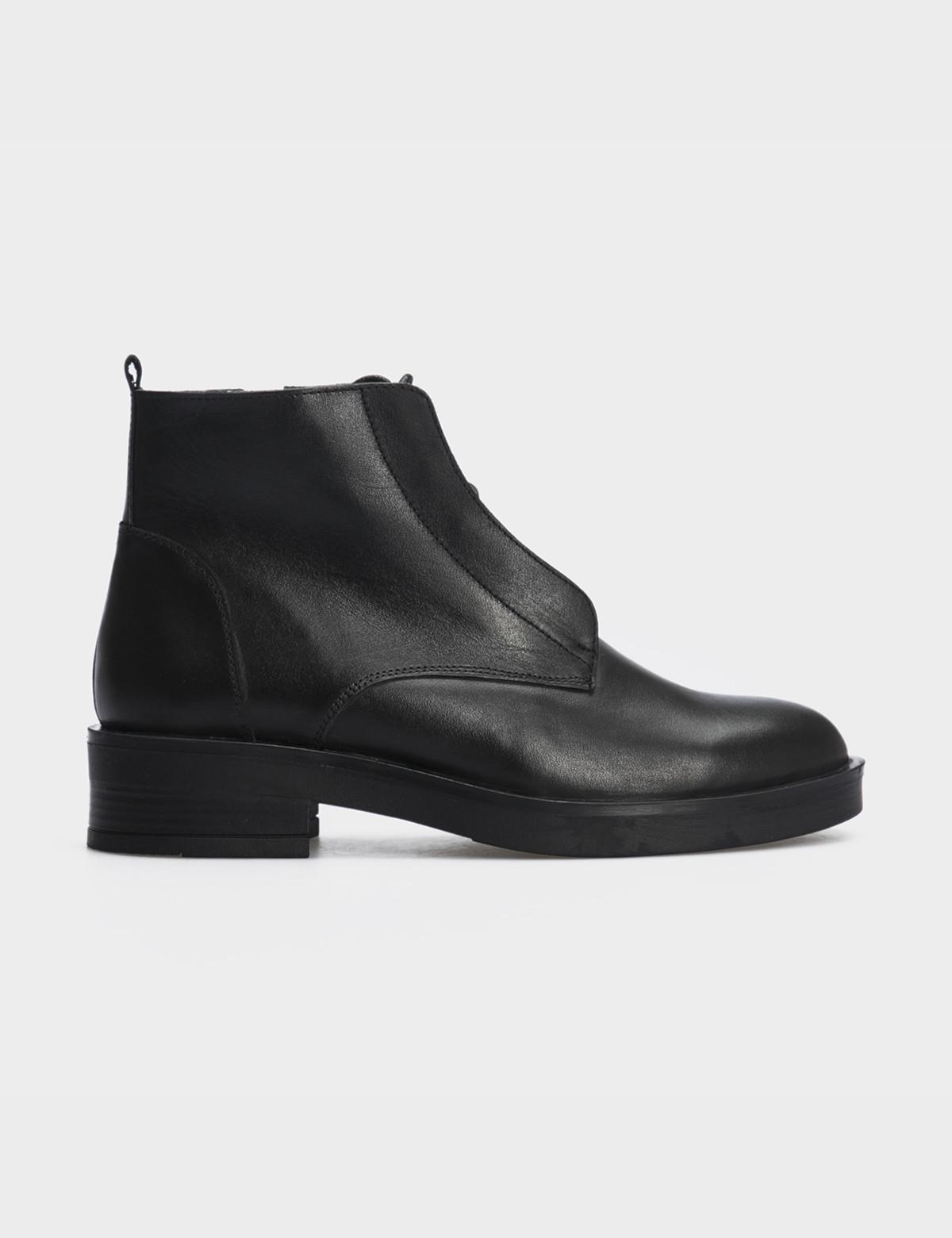 Ботинки черные натуральная кожа. Шерсть