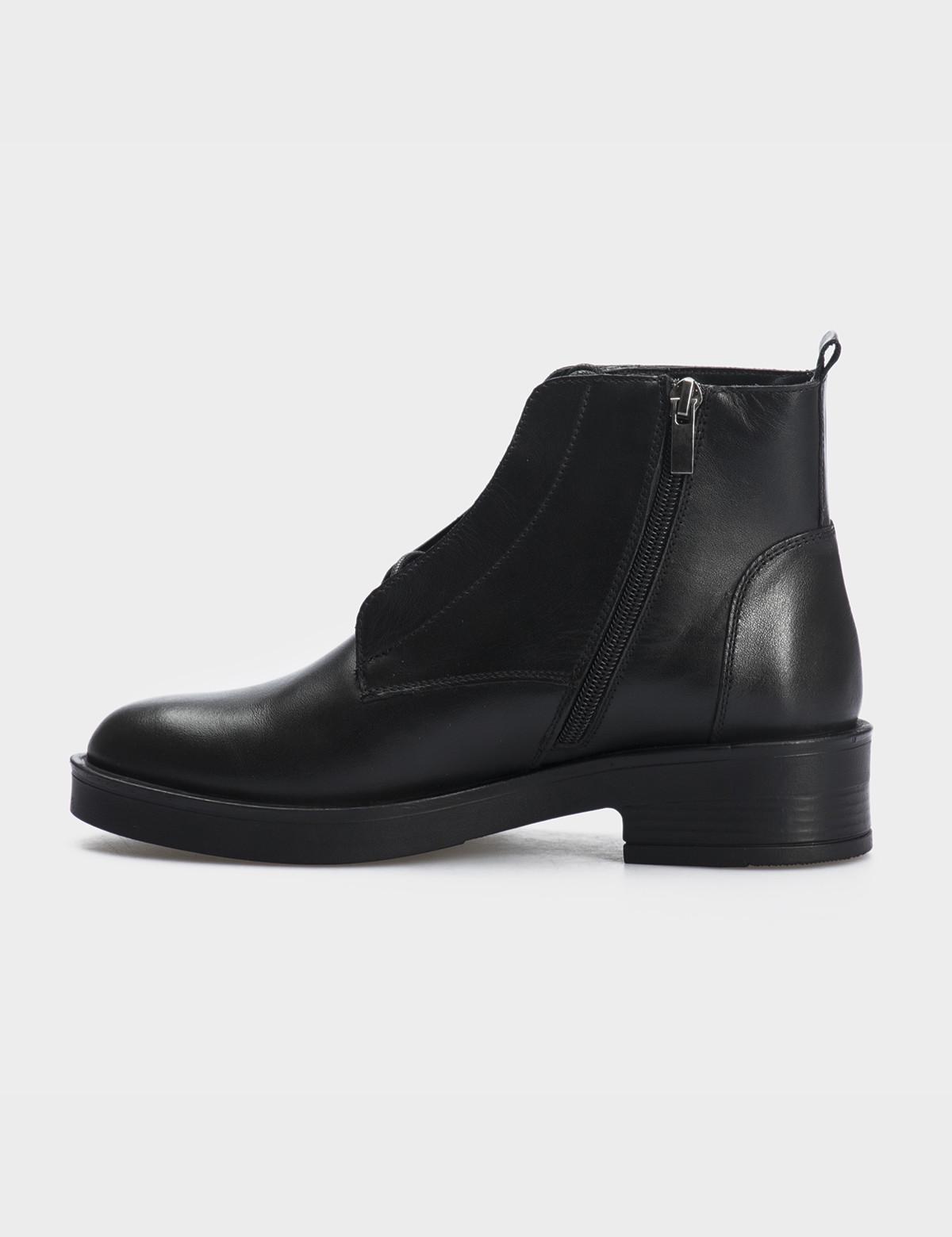 Ботинки черные натуральная кожа. Шерсть 2
