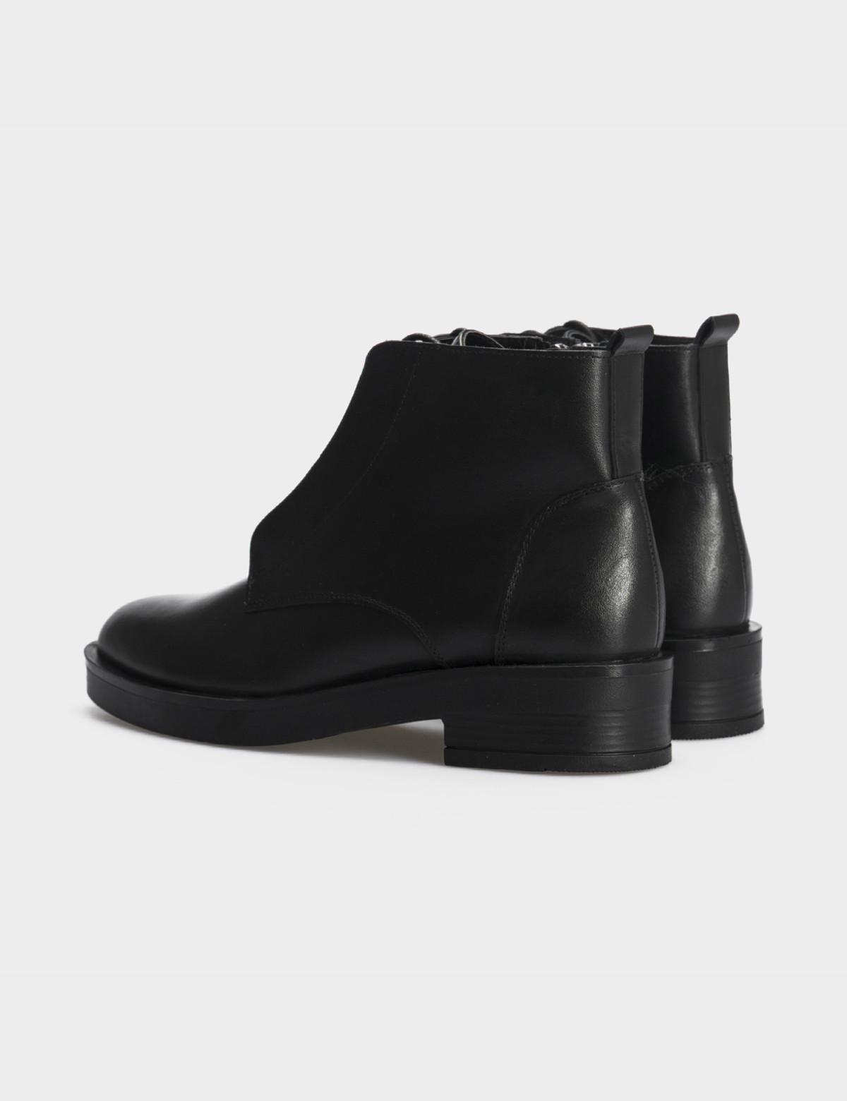 Ботинки черные натуральная кожа. Шерсть 3