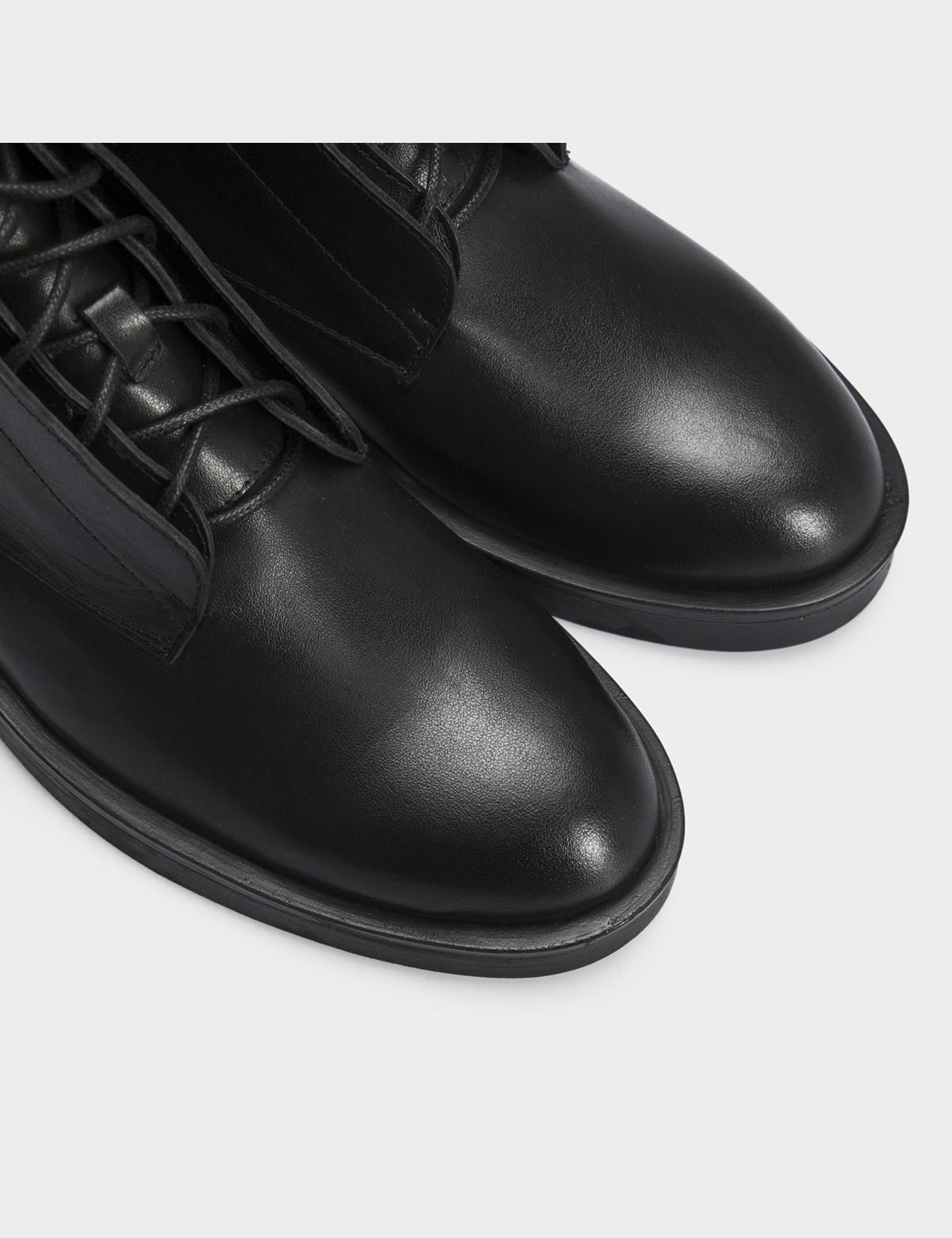 Ботинки черные натуральная кожа. Шерсть 4